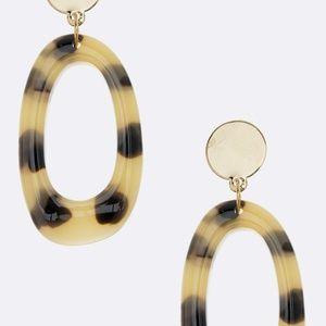 Leopard print Oval hoop earrings